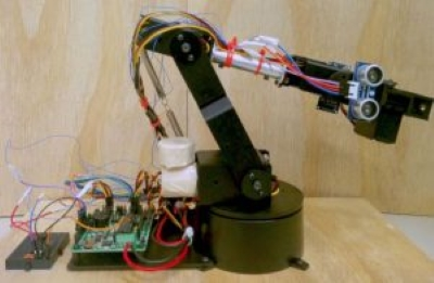 The robotic arm used as an output device for our BCI.