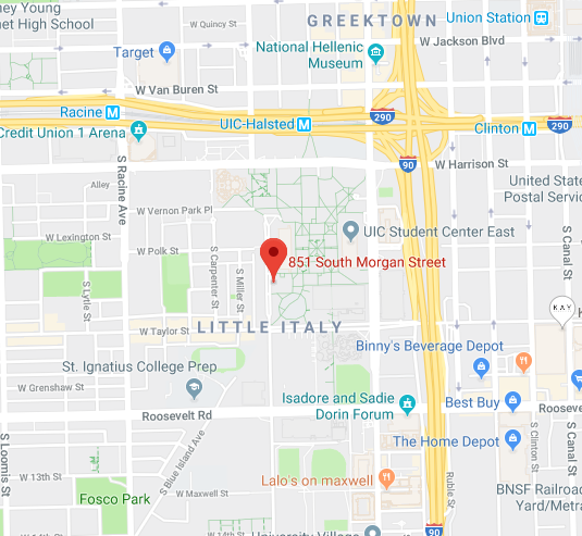 UIC Google Maps Location